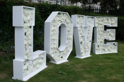 flower marquee love letters