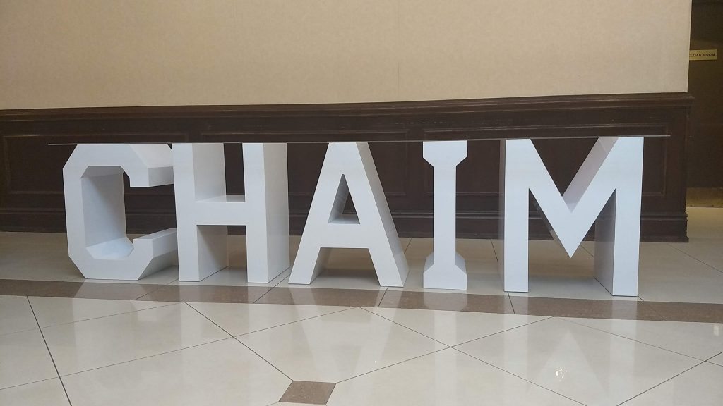 Read more about the article CHAIM's Bar Mitzvah – Toronto Marquee Letter Table